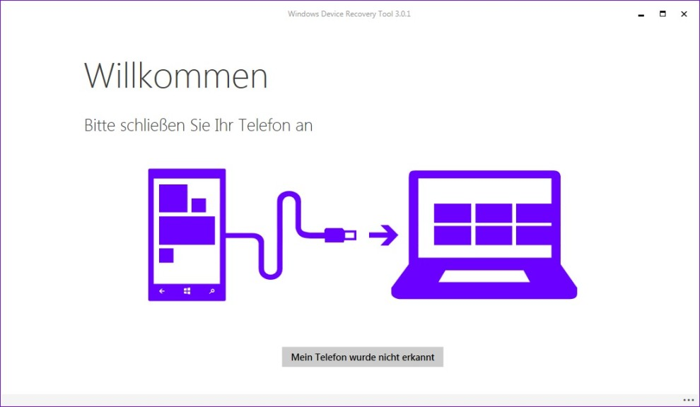 Screenshot 1 - Windows Device Recovery Tool