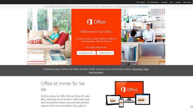 Office-365-Startseite©microsoft.com