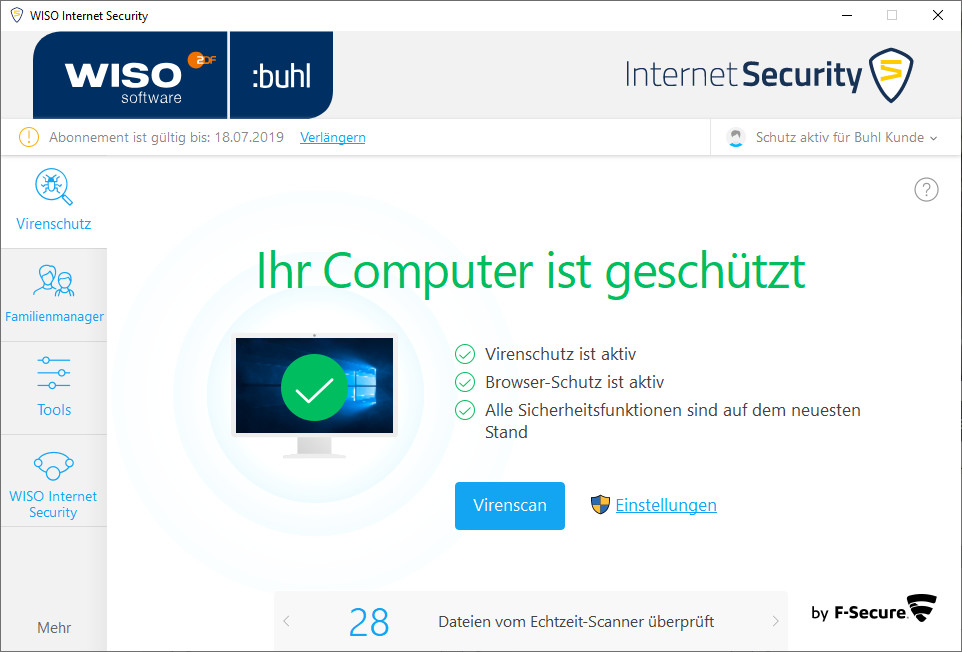 Screenshot 1 - WISO Internet Security