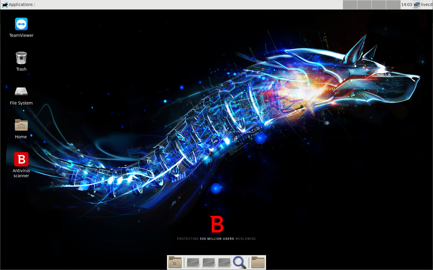 Screenshot 1 - Bitdefender Rescue CD