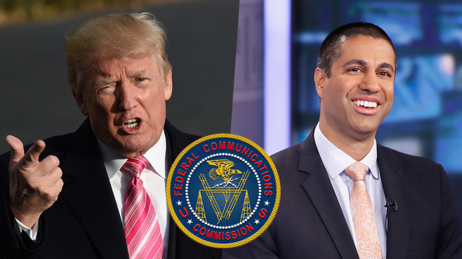 Net Neutrality, Netzneutralität, Donald Trump, FCC, Ajit Pai©ANDREW CABALLERO-REYNOLDS/gettyimages, John Lamparski/gettyimages, FCC (Schreibweise unklar)