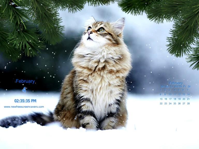 Screenshot 1 - Winterkatzen Screensaver