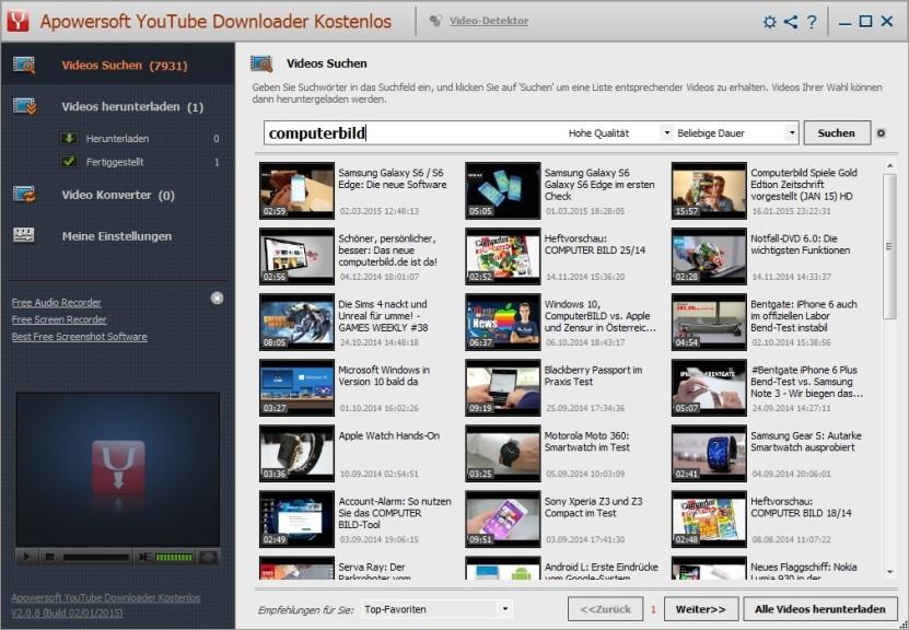 Screenshot 1 - Apowersoft YouTube Downloader