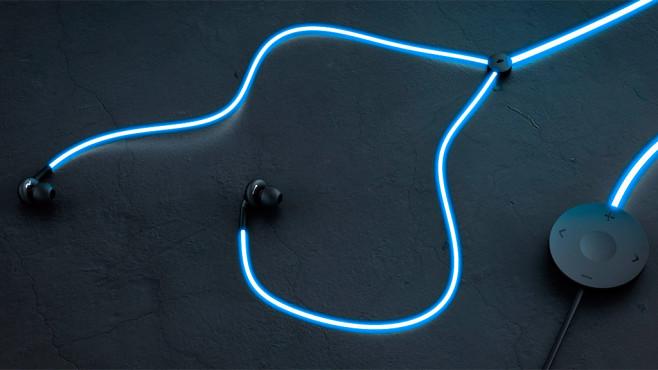 Glow: Leuchtende In-Ear-Kopfhörer©Glow Headphones