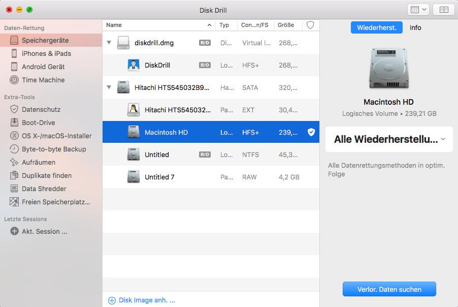 Screenshot 1 - Disk Drill (Mac)