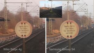 Fotovergleich Wiko Ridge 4g und Samsung Galaxy S4©COMPUTER BILD
