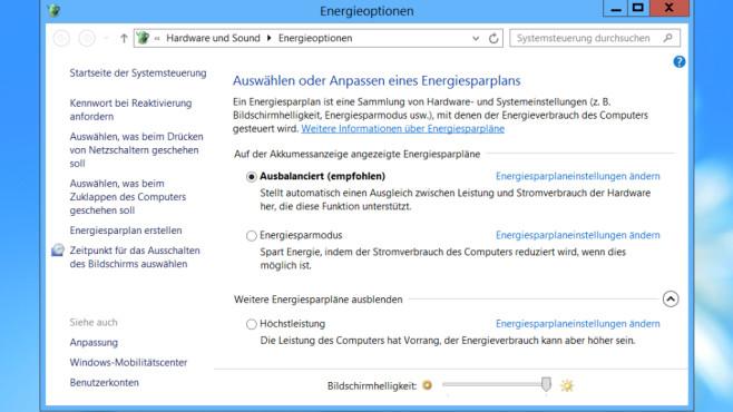 Windows 7/8/10: Energiesparpläne installieren – mit Bordmitteln oder Tools©COMPUTER BILD