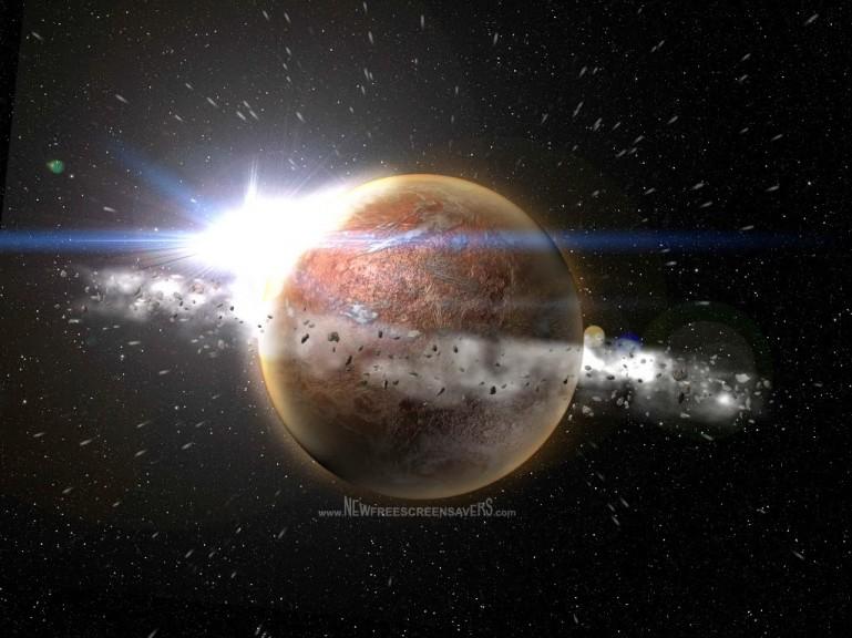 Screenshot 1 - Verlorener Planet 3D Screensaver