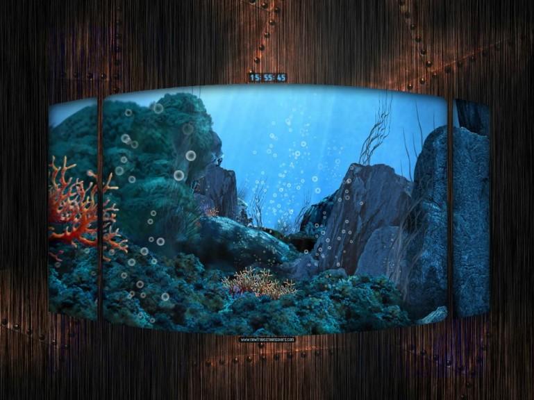 Screenshot 1 - Unterwasserflug Screensaver