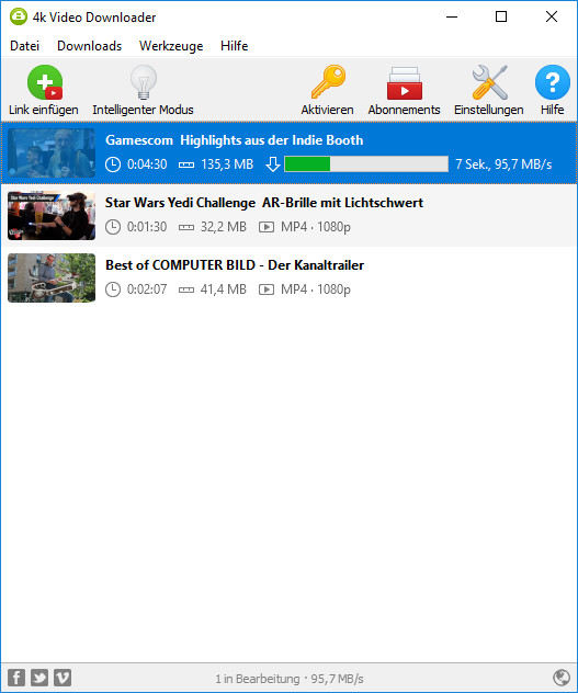 Screenshot 1 - 4K Video Downloader Portable
