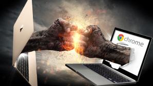 MacBook vs. Chromebook©Przemyslaw Koch - Fotolia.com, peshkova - Fotolia.com, Apple, Google