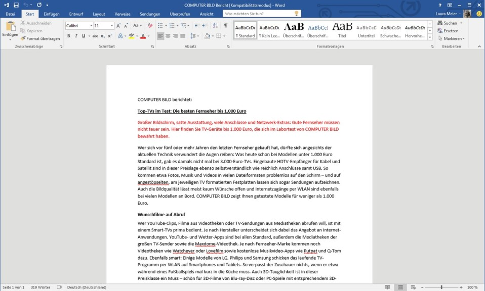 Microsoft Office 2016 Home Business Download Computer Bild