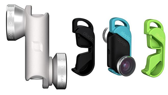 Selfie-Stick àde: Smartphone-Objektive im Überblick Praktisch: olloclip bietet Smarpthone-Objektive sowohl für die Rück- als auch die Frontkamera an.©olloclip