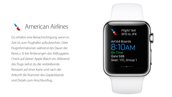 American Airlines © Apple