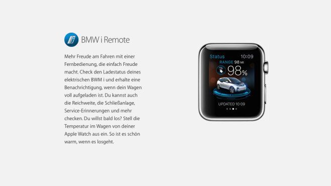 BMW i Remote © Apple