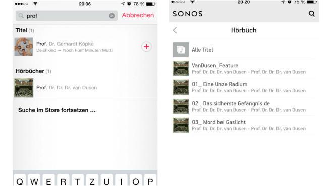 Tipps für WLAN-Lautsprecher: Hörbücher©Apple, Sonos