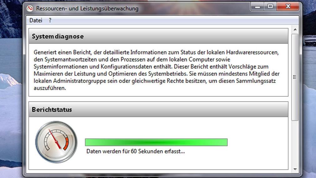 Windows 7: Probleme aufdecken per Systemintegritäts-Bericht Nach kurzer Zeit erhalten Sie umfangreiche PC-Infos und Tipps zur Optimierung.