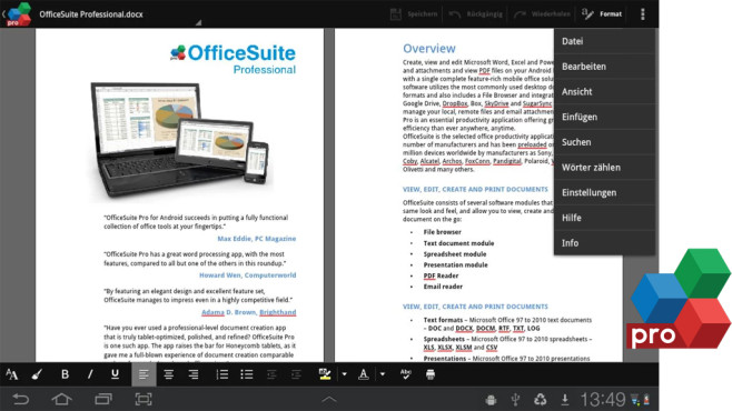 OfficeSuite Pro © MobiSystems