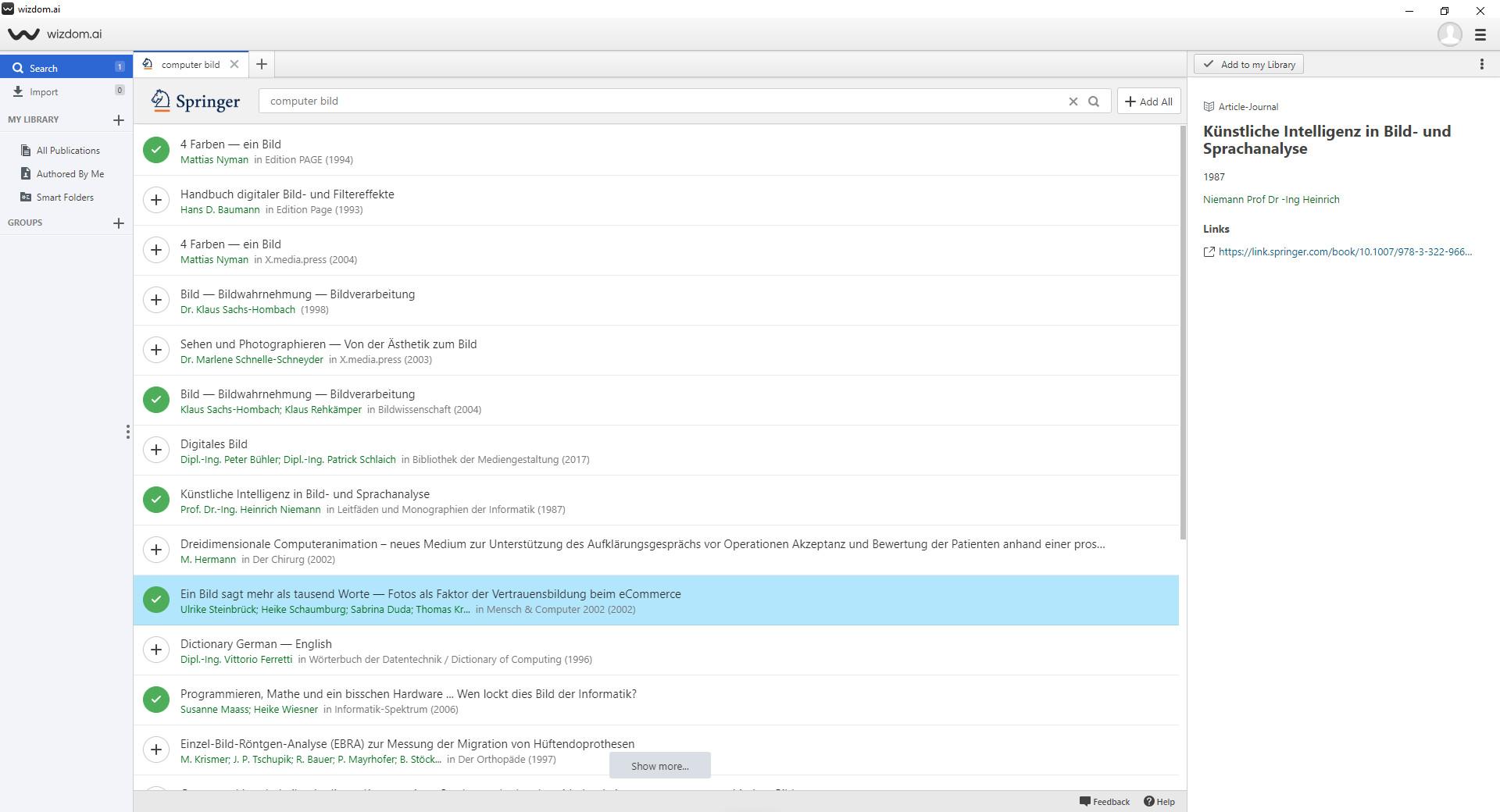 Screenshot 1 - Wizdom.ai