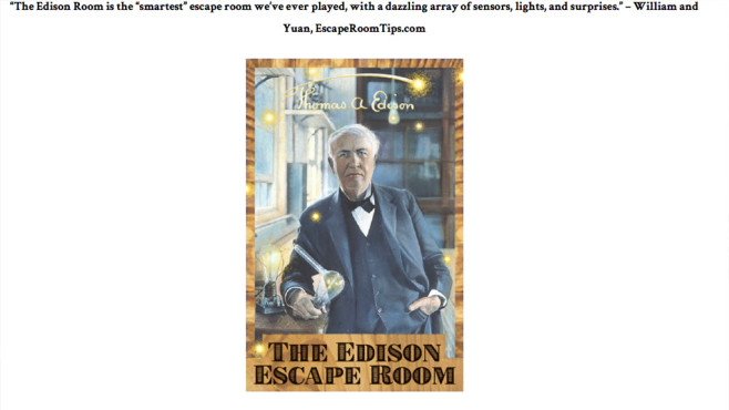 Edison Escape Room © Palace Games