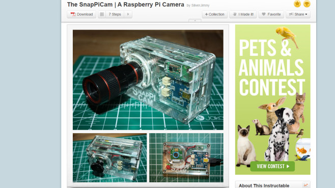 SnaPiCam: Digicam auf Raspberry-Pi-Basis © SilverJimmy via www.instructables.com – Screenshot