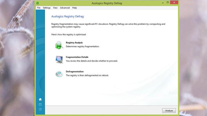 Auslogics Registry Defrag: Registry komprimieren ©COMPUTER BILD
