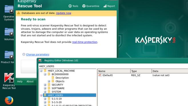 Kaspersky Rescue Disk: Registry extern bearbeiten ©COMPUTER BILD