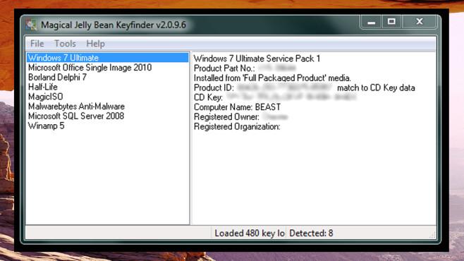 Magical Jelly Bean Keyfinder: Verlorene Seriennummern ermitteln ©COMPUTER BILD