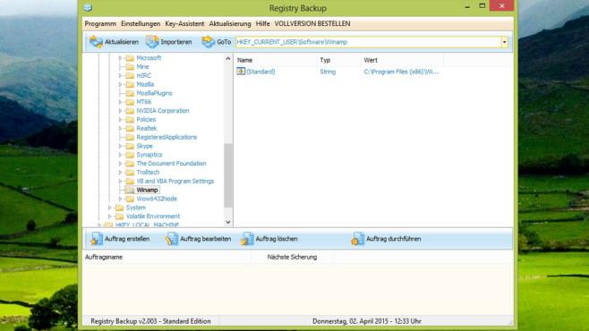 Registry Backup: Registry-Inhalte sichern ©COMPUTER BILD