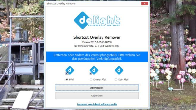 Shortcut Overlay Remover: Verknüpfungspfeile entfernen ©COMPUTER BILD