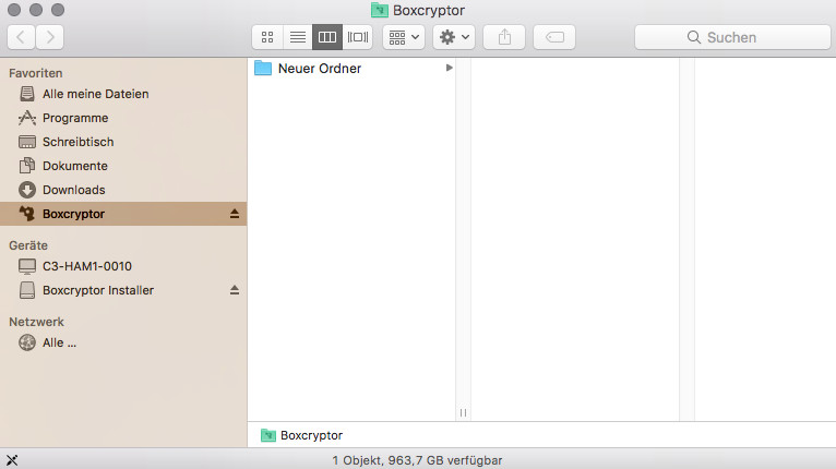 Screenshot 1 - Boxcryptor (Mac)