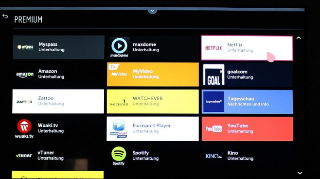 LG Web-OS Premium Apps©COMPUTER BILD