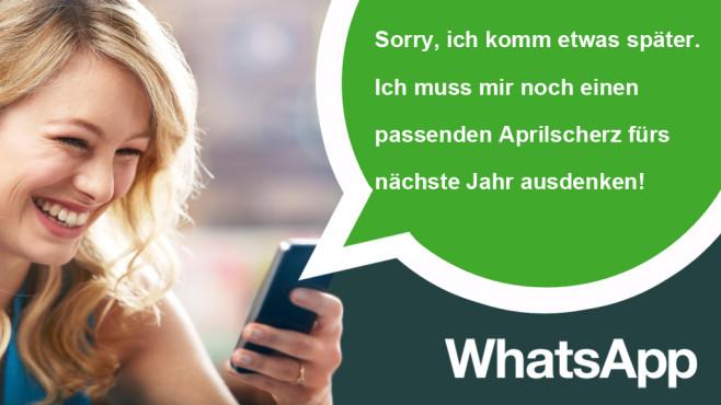 WhatsApp-Scherzsprüche zum 1. April ©Ezra Baily/gettyimages
