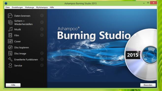 Ashampoo Burning Studio 2015 – Kostenlose Vollversion ©COMPUTER BILD