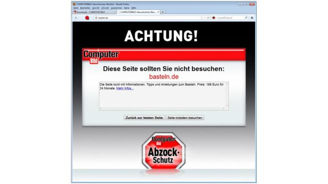 COMPUTER BILD-Abzockschutz ©COMPUTER BILD