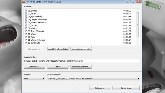 Platz 38: Free Audio CD to MP3 Converter (neu) ©COMPUTER BILD