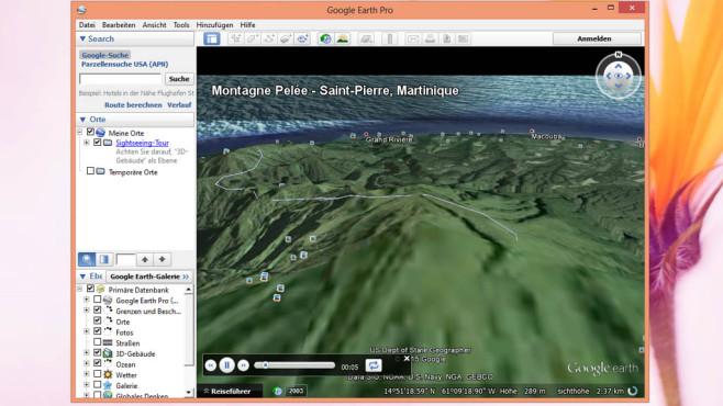 Platz 4: Google Earth Pro – Kostenlose Vollversion (neu) ©COMPUTER BILD