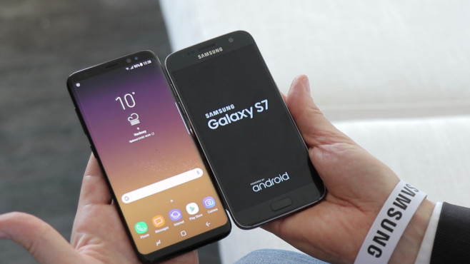 Samsung Galaxy S8 und Galaxy S7©COMPUTER BILD