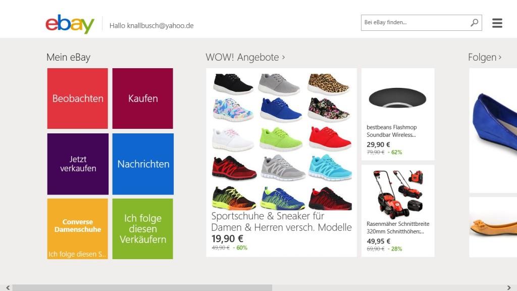Screenshot 1 - eBay (App für Windows 10 & 8)