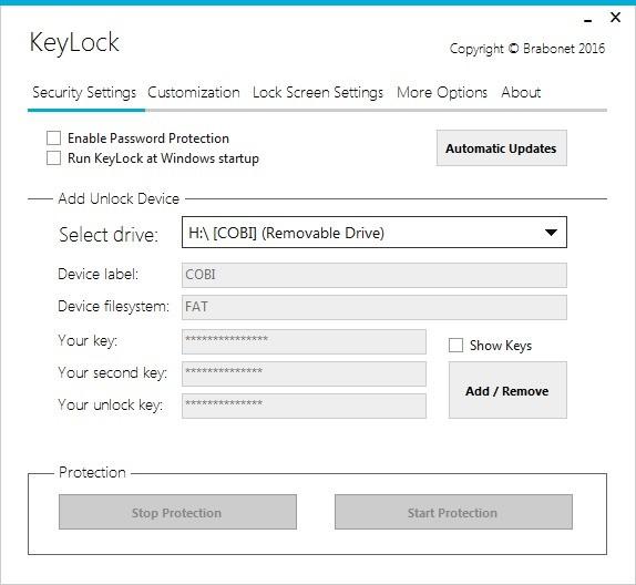 Screenshot 1 - KeyLock