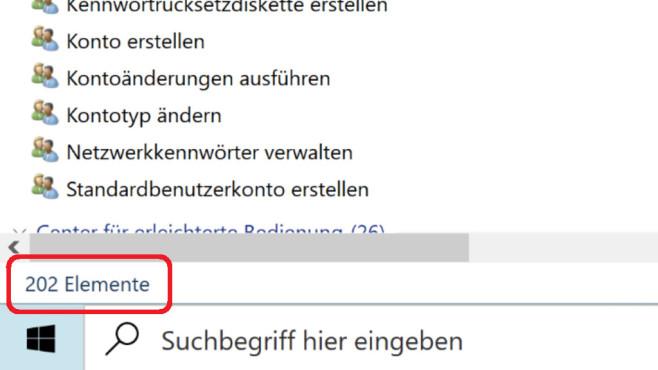 Windows-10-Systemsteuerung im Funktionszerfall: Sie kann immer weniger Windows 10 20H2 (Build 19042.631) – Mai-2020-Update: 202 Einträge im GodMode.©COMPUTER BILD