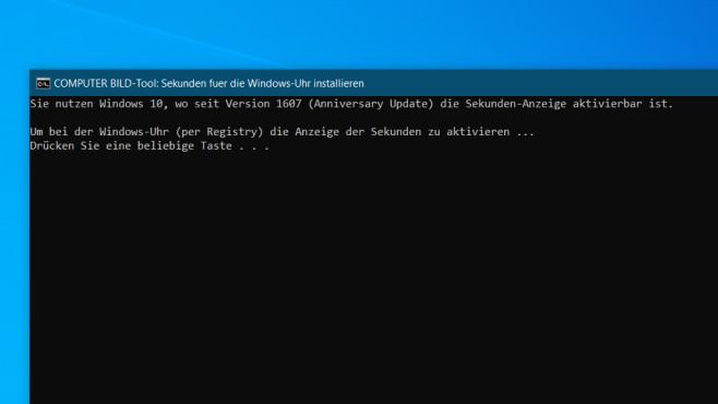 Windows-Uhr: Sekunden anzeigen©COMPUTER BILD