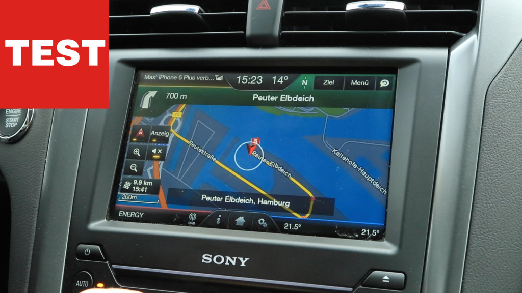 connected car ford mondeo mit ford sync 2 im test. Black Bedroom Furniture Sets. Home Design Ideas