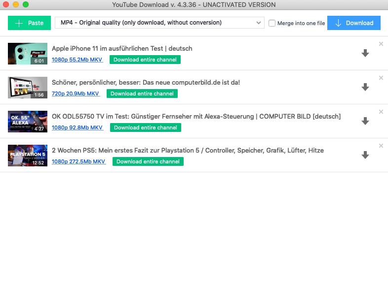Screenshot 1 - Free YouTube Download (Mac)