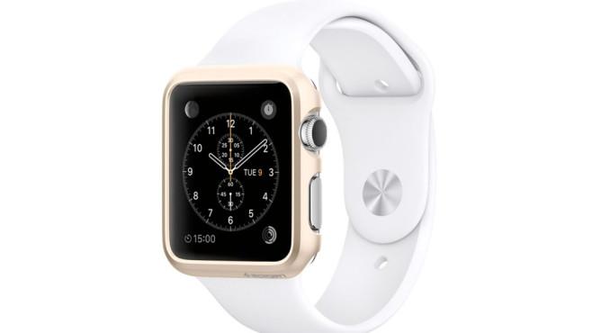 Goldenes Case für Apple Watch ©Spigen