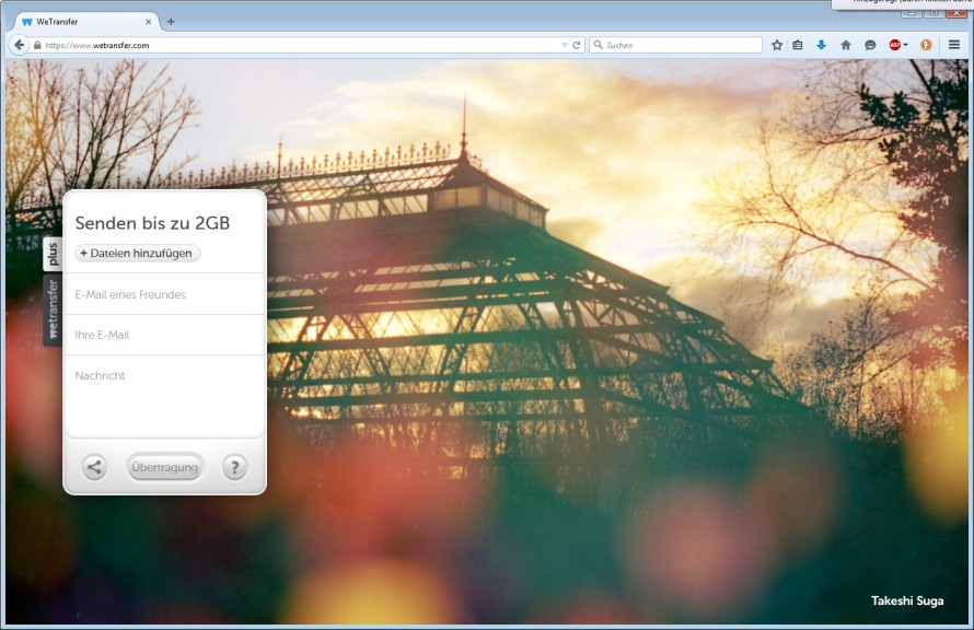 Screenshot 1 - WeTransfer