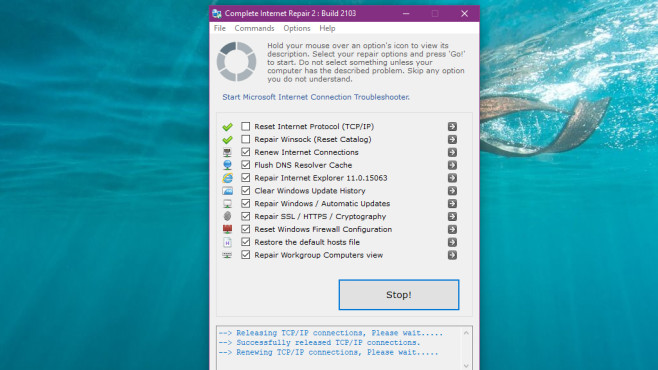 Complete Internet Repair: Fallstricke eliminieren ©COMPUTER BILD