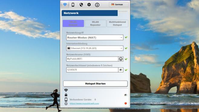 MyPublicWiFi: Notebook in Hotspot verwandeln ©COMPUTER BILD
