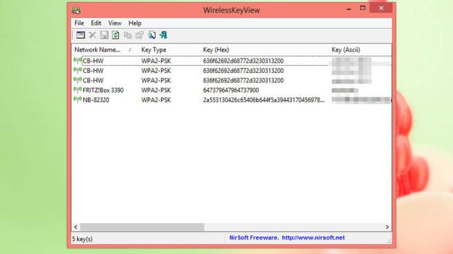 WirelessKeyView: Vergessenen Zugangscode auslesen ©COMPUTER BILD