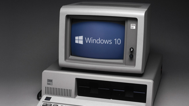 PC mit Windows 10©Microsoft, Science & Society Picture Library / Getty Images
